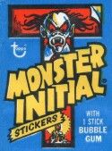 Monster Initials Stickers Topps