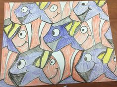Finding Nemo Tessalations!!! Gotta try this with my class.