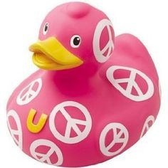 Bud Mini Peace Symbol Rubber Duck:Amazon:Toys & Games