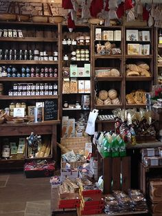 Delicatessen store refurbishment, artisan crates by Linkshelving. Benedicts restaurant and deli in Whalley