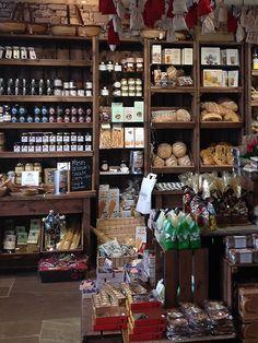 Delicatessen store refurbishment, artisan crates by Linkshelving. Benedicts restaurant and deli in Whalley