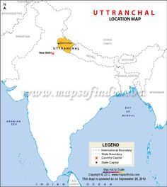 Location Map of Uttarakhand