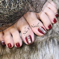 Cat Nail Designs, Pedicure Nail Designs, Pedicure Nails, Simple Nail Designs, Nail Spa, Gem Nails, Love Nails, How To Do Nails, Stone Nail Art