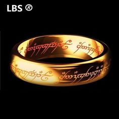 2016 Midi Ring Tungsten One Ring of Power Gold the Lord of Ring Lvers Women and Men Fashion Jewelry Wholesale Free Drop ship