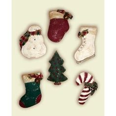 Primitive Christmas Patterns | Primitive Christmas Pins E-Pattern Sewing Crafts