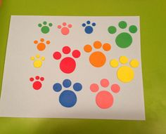 Paw Patrol Inspired Dog Puppy Paw Prints  - Edible Fondant Cake/Cupcake Topper Decorations on Etsy, $6.00