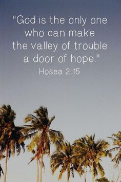 I need a door of hope because I'm in a biiiig valley of trouble. Bible Verses Quotes, Me Quotes, Bible Scriptures, Hope Scripture, Scripture Images, Jesus Bible, Godly Quotes, Quotable Quotes, Christian Faith