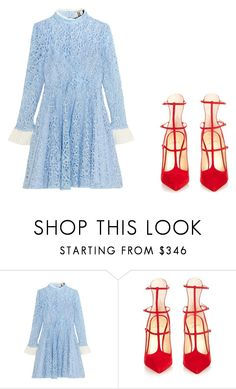"""""""Come on baby"""" by palefiction ❤ liked on Polyvore featuring Topshop Unique and Christian Louboutin"""