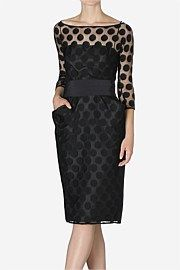 Black Spot Lace Beauty Hourglass Dress from Carla Zampatti