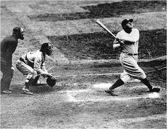 Babe Ruth hitting a Homer