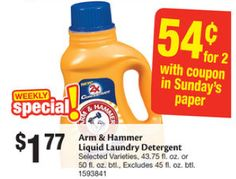 Arm & Hammer Laundry Detergent Only $0.27 at Stop & Shop! {6/6}