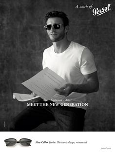 Actor Scott Eastwood is the new face for Persol representing a new generation of ideas, after the brand continuously depicted sophisticated mature men in previous year campaigns.