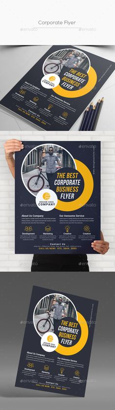 #Corporate #Flyer - Corporate Flyers Download here:  https://graphicriver.net/item/corporate-flyer/20331027?ref=alena994