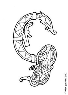 G For My Urnes Style Alphabet Wyrms