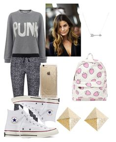"""""""A lazy kinda fancy day at school"""" by stylememint ❤ liked on Polyvore featuring Bella Freud, Splendid, Converse, Rifle Paper Co and Adina Reyter"""