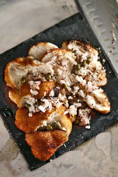 The Chubby Vegetarian: Roasted Lion's Mane Mushrooms with Champagne and Honey Mignonette