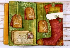 Clips-n-Cuts | Christmas themed art journal | http://www.clips-n-cuts.com