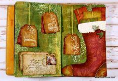 Clips-n-Cuts | Christmas themed art journal | http://www.clips-n-cuts.com