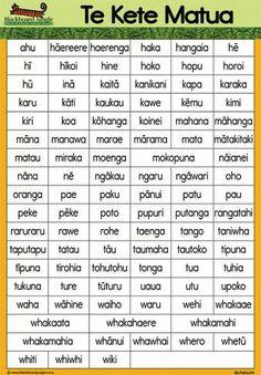 100 Te Reo Words - Te Kete Matua