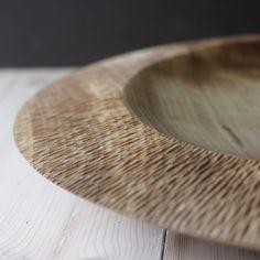 carved rim sycamore bowl