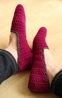 Make: Zoom Yummy's simple crochet slippers