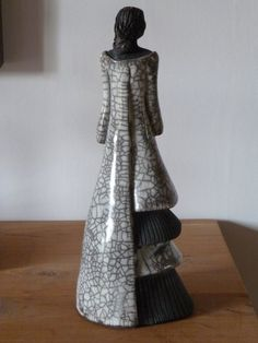 """""""Soleil Levant"""" Sculpture n°8 : environ 36 cm Réalisée en février 2012, Argile Technique Raku"""