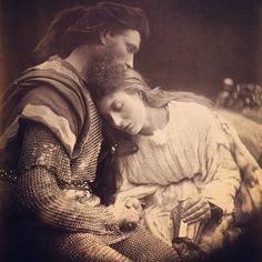 Julia Margaret Cameron (1815-1879) is, arguably, one of the greatest portraitists in the history of photography. This photo is called The Parting of Guinivere and Lancelot, 1874.