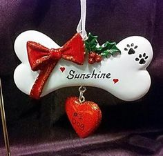 Personalized Ornament for Dog Bone with Number 1 Dog Heart Tag Personalized Christmas Dog Ornament Personalized Tags, Personalized Ornaments, Dog Ornaments, Christmas Ornaments, Dog Christmas Gifts, Number, Holiday Decor, Random, Heart