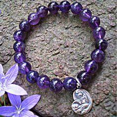 Amethyst Faith Bracelet | www.cutestjewelry.com | $69