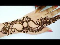 Very Simple Mehndi Designs, Round Mehndi Design, Mehndi Designs For Kids, Floral Henna Designs, Henna Tattoo Designs Simple, Mehndi Designs Feet, Back Hand Mehndi Designs, Stylish Mehndi Designs, Mehndi Designs 2018