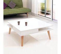 Tables Basses - Table basse Scandinave MONICA Blanc