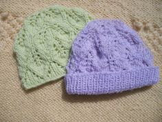 Free pattern on Ravelry: Baby Leaves Baby Hat pattern by Heidi Sunday