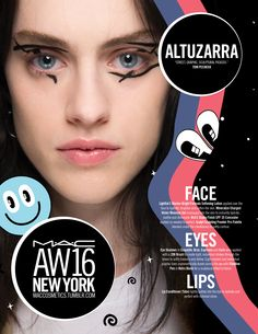 M·A·C Backstage at Altuzarra AW16 NYFW. Get the look with Fluidline Pen!