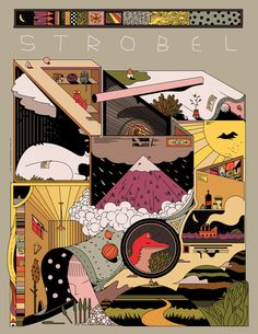 Catalog book cover art for Strobel - A textile company from Chile. Graphic Design Posters, Graphic Design Illustration, Graphic Design Inspiration, Digital Illustration, Design Graphique, Art Graphique, Textile Company, Japanese Graphic Design, Arte Popular