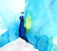 Summer Sale - 15% off - Peacock III - 8 x 10 Giclee Print. $20.40 from Mai Autumn