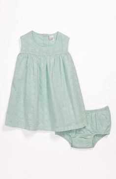 Nordstrom Baby Eyelet Dress & Bloomers (Infant) available at Nordstrom