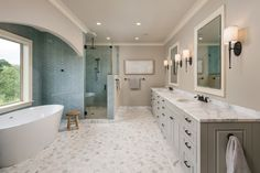Inspirational Luxury Master Bathroom Ideas Inspirational Luxury Master Bathroom Ideas -Are you remodeling your master tub and wondering where to begin? Here are eight tips out of Bathroom Ideas. Master Tub, White Master Bathroom, Luxury Master Bathrooms, Master Bedrooms, Bathroom Pictures, Bathroom Ideas, Bathroom Designs, Modern Bathroom, Small Bathroom