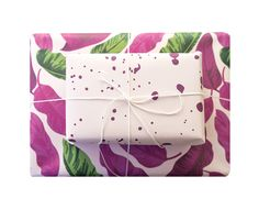 blushing confetti, wrapping paper, double sided wrap, gift wrap, gift, tropical, paint