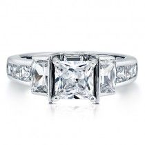 Beautiful Sterling Silver Princess Cubic Zirconia CZ Ring