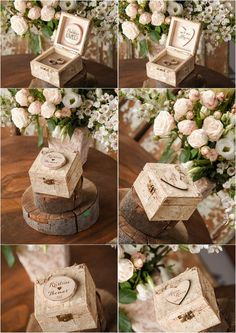 Rustic country birch wood wedding ring box - rustic wedding ideas @4LOVEPolkaDots