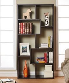Furniture of America Walnut Medina Contemporary Display Case | zulily