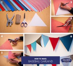 Make your game watching party a hit with our decorative baseball garland #DIY