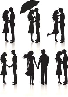 Different silhouettes of couples. Easy Canvas Art, Simple Canvas Paintings, Small Canvas Art, Pencil Art Drawings, Cool Art Drawings, Art Drawings Sketches, Shadow Painting, Shadow Drawing, Couple Silhouette