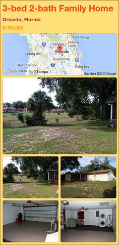 3-bed 2-bath Family Home in Orlando, Florida ►$159,900 #PropertyForSale #RealEstate #Florida http://florida-magic.com/properties/85770-family-home-for-sale-in-orlando-florida-with-3-bedroom-2-bathroom