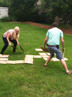 Giant Scrabble (or Bananagrams) for the lawn - could be fun game for a rehearsal dinner picnic