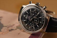 149$ Orient Men's 45mm Black Leather Band Steel Case Quartz Analog Watch FTV02003B0 #orient #watch #chrono #affordable #wristwatches