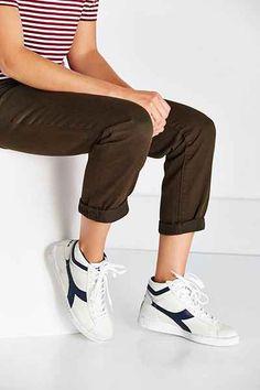 Diadora X UO Game Hi Waxed Leather Sneaker Vendita Di Scarpa eaf73725832