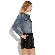 night sky sequin shorts. or as I like to call them .. dance pants!