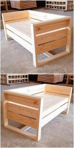 The last 50 wood recycling pallet furniture projects # wood furniture # furniture Recycled Pallet Furniture, Diy Furniture Easy, Diy Outdoor Furniture, Diy Furniture Projects, Diy Pallet Projects, Pallet Ideas, Wood Furniture, Woodworking Projects, Recycling Furniture