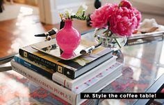 10 Money-Saving Decorating Tips We've Learned from Everygirl Home Tours // Style the coffee table